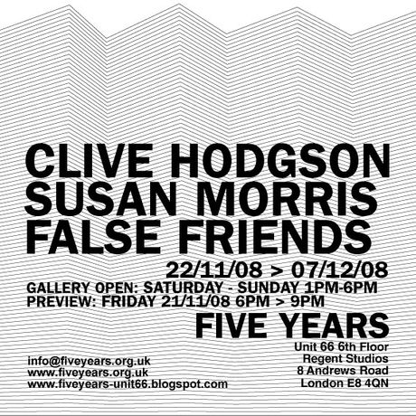 FALSE FRIENDS: CLIVE HODGSON & SUSAN MORRIS: Image 0