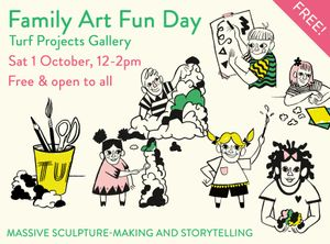 FAMILY ART FUN DAY // MASSIVE SCULPTURE-MAKING AND STORYTELLING