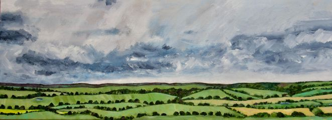 Jo Holdsworth, Clouds over Hampshire Hills, £250-350