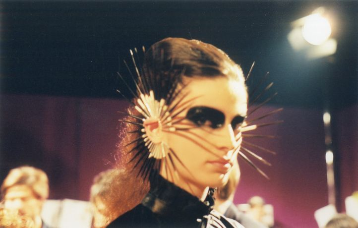 Silver and Porcupine Quill Ear Cuffs, Shaun Leane for Alexander McQueen, Irere, Spring/Summer 2003.