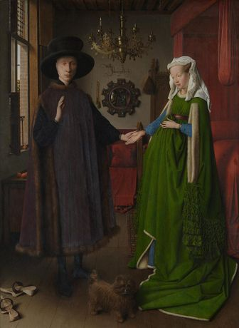 Detail from Jan van Eyck, The Arnolfini Portrait, 1434