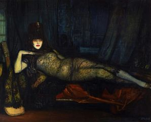 Maja Maldita, 1918, Oil on canvas, 161.5 x 202 cm, Courtesy Stair Sainty