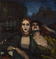 Las hermanas de Venecia (The Venetian Sisters), 1920,  Oil on canvas, 91 x 96 cm, Courtesy Stair Sainty