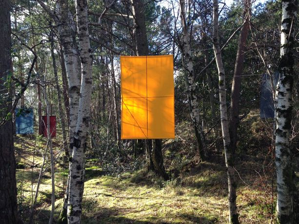 Felipe Mujica, So We Faced With The Problems of Conversation (Google Translate), 2017, installation view Kulturøya, artist residency in the Sølyst Island, Stavanger, Norway