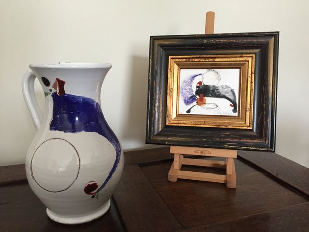 Visual Music painting & hand decorated jug