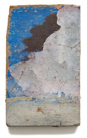 Felix Droese: Am Meer, 1995, Painting on wood 20 x 12 cm