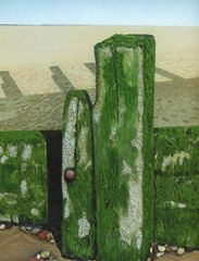 Beach Groynes with Seaweed by Margaret Finch The Best in Show from the 2016 exhibition