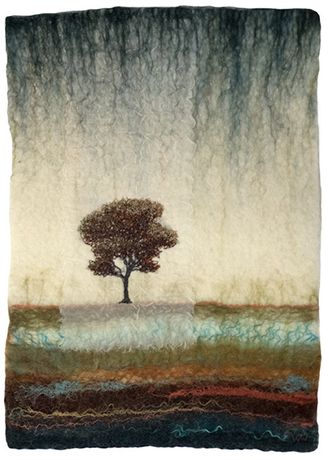 Felted landscape by Valérie Wartelle