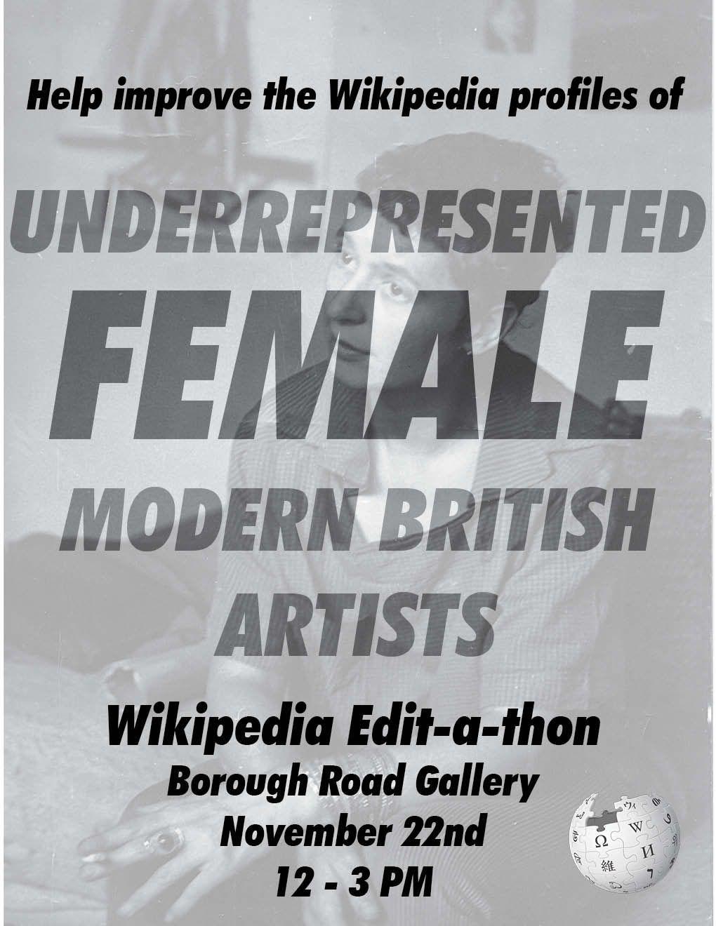 Female Modern British Artists Wikipedia Editathon Workshop