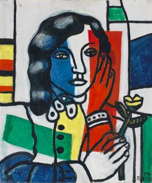 Fernand Léger, Young Girl Holding a Flower (Jeune fille tenant une fleur) 1954 © ADAGP, Paris and DACS, London 2018. © The Fitzwilliam Museum, Cambridge.