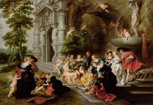 The Garden of Love, after Peter Paul Rubens, after 1630/31 wood © KHM-Museumsverband
