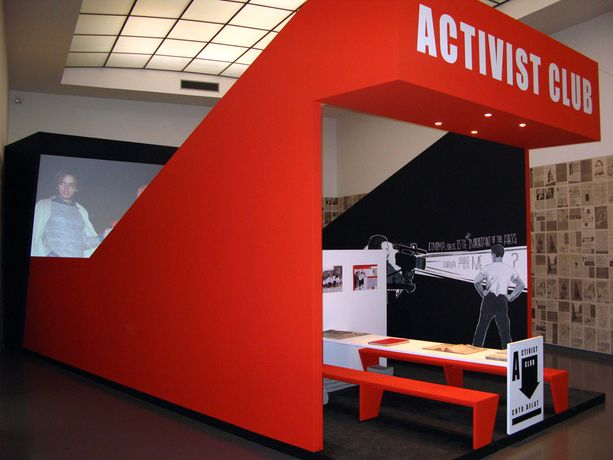 Chto Delat, Activist Club, 2007, installation view, Plug In #51, Van Abbemuseum, Eindhoven, the Netherlands, 2009.  Photo: Peter Cox Collection of Van Abbemuseum