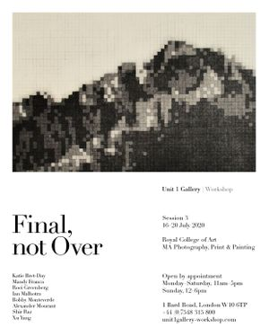 Final, not Over - Session 3: Royal College of Art MA Photography, Print & Painting Poster