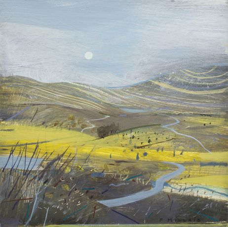 Fiona Millais 'March Moor' Acylic on panel