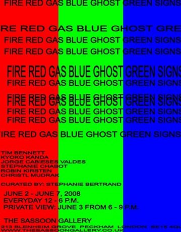 FIRE RED GAS BLUE GHOST GREEN SIGNS: Image 0