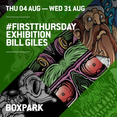 #FIRSTTHURSDAY #BILLGILES @BOXPARK: Image 0