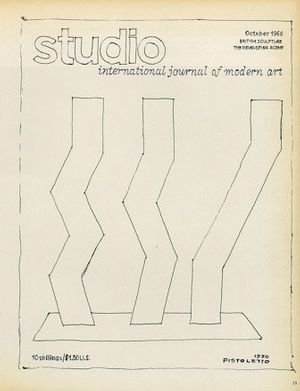 Michelangelo Pistoletto, Studio International, Vol. 180, No. 924, July/August 1970, p. 15. Courtesy the artist and Galleria Continua.