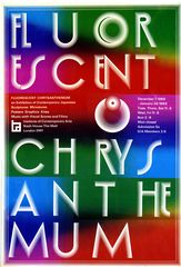 Poster from Fluorescent Chrysanthemum, ICA, 1968, designed by Kohei Sugiura