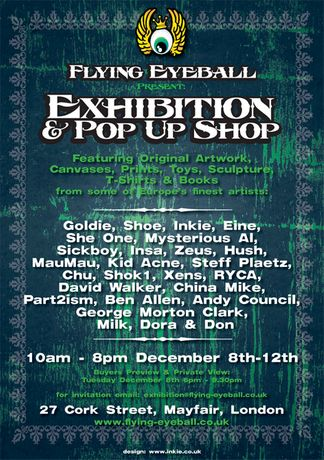 FLYING EYE BALL POP UP SHOP AND EXHIBITION: Image 0
