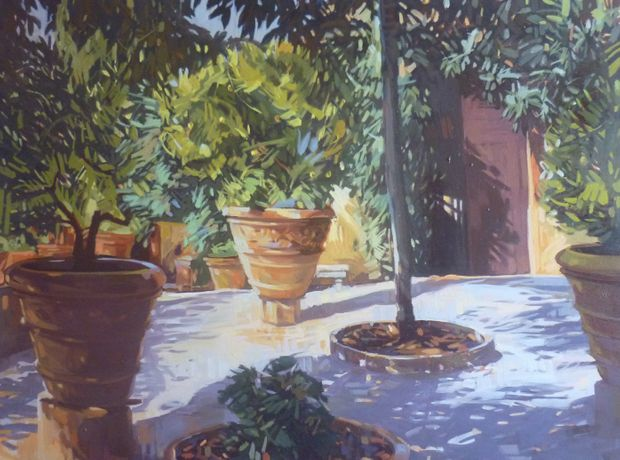 ITALIAN GARDEN Oil on canvas 90cmx120cm