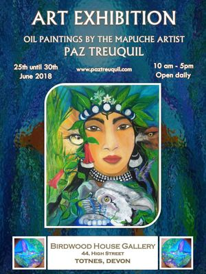 FOLIL (Roots). Oil paintings by the mapuche artist Paz Treuquil