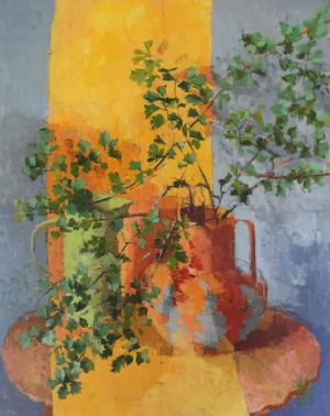 Jill Barthorpe - Hawthorn with orange stripe