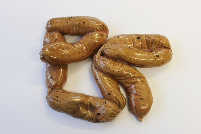 Clay Sausages by Erica Eyres