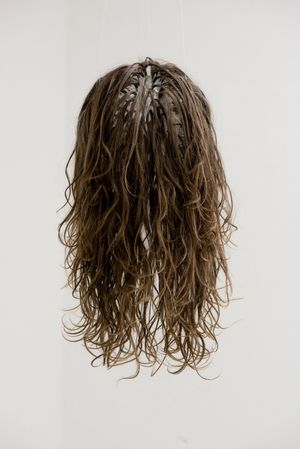 Minor Hell, JocJonJosch, 2016, artists' hair and glass