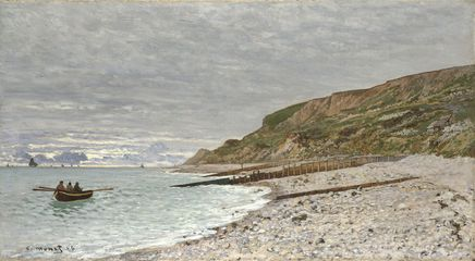 Image above: Detail from Monet, La Pointe de la Hève, Sainte-Adresse, 1864 © The National Gallery, London. Acquisition Credit.