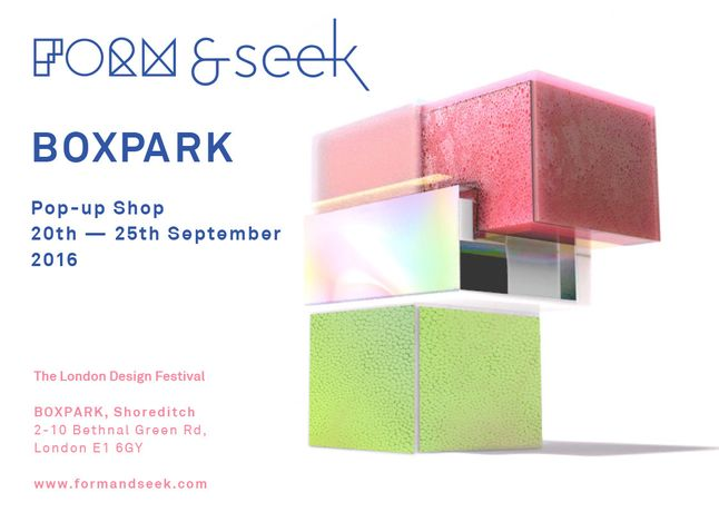 #FORM&SEEK POP UP @BOXPARK: Image 0