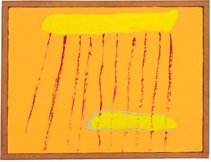 Forrest Bess, Red Rain, 1967, oil on canvas, 30.4 x 40.6 cm, 12 x 16 ins. Courtesy: Stuart Shave/Modern Art, London