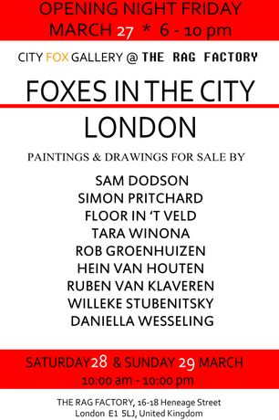 Foxes In The City: An Eclectic Art Exhibition Of Nine Upcoming Artists, Brick Lane, London: Image 1