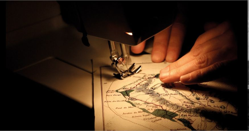 Ana Mendes: Map Series, Performance,  sewing machine © Ana Mendes