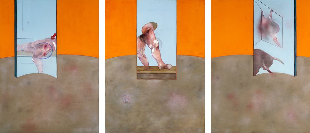 Image Francis Bacon Triptych 1987. Oil on canvas. c. The Estate of Francis Bacon