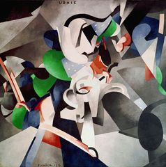 Francis Picabia: Udnie (Young American Girl; Dance), 1913 Oil on canvas, 290 × 300 cm Centre Pompidou, Musée national d'art moderne – Centre de création industrielle, Paris. Purchase of the State, 1948