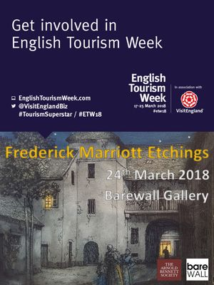 Frederick Marriott Etching as part of English Tourism Week