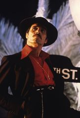 Actor and director Edward James Olmos as El Pachuco in a scene from Zoot Suit (1981). Courtesy of Universal Studies Licensing LLC.