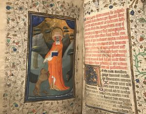 The Book of Hours for the use of Sarum in Latin. Manuscript on vellum, illuminated by the Masters of Otto van Moerdrecht Flanders, Bruges, c. 1430