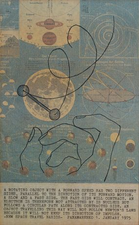 Panamarenko, Atom and Manpower, 1975, offset on paper, h. 98.5 cm x b. 62.5 cm