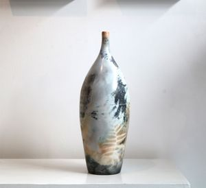 Saggar-fired Bottle by Alison West