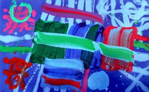 Albert Irvin, Tullymongan, 2008, Acrylic on canvas, 30 x 48 inches (76.2 x 121.9 cm)