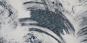 Hannah Marsh, For Eya, Susie and I (7) (detail), ink drawing using cleaning tools, 2018. © The Artist. FUAM prize winner 2018