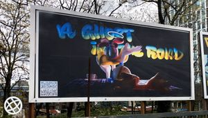 Frank WANG Yefeng, Slow Spectre, billboard commission for Fulfilment Services Ltd., 2021 - Image courtesy of Fulfilment Services Ltd.