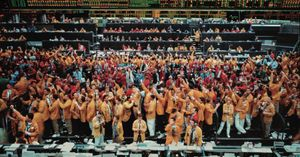 Andreas Gursky Chicago Mercantile Exchange, 1997