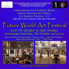 Flyer front of Future World Art Festival