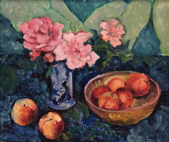 Still Life with Peaches & Roses, 1978