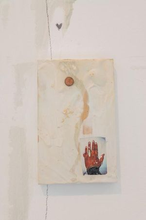 "Gaelle Choisne, 16.	""Entre Chien et Loup"" Image of Desire: Polydactyly, wood, paint, temporary tattoo, 2019"