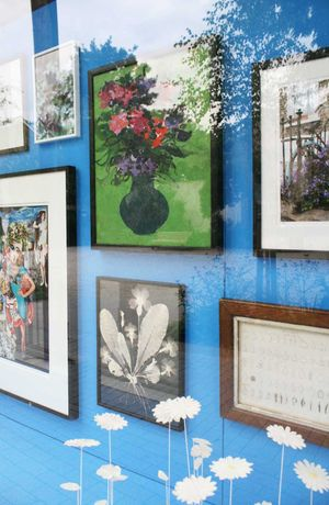 Detail of the Gallery In Bloom exhibition