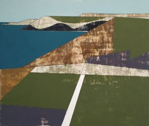 Vanessa Gardiner, Field Edge 12, acrylic on board, 21 x 24 cm