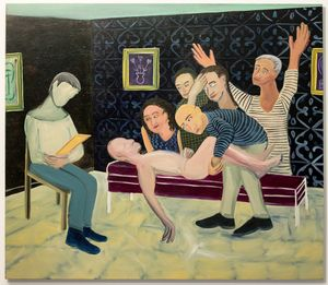 Guy Ben- - Ari, Talking to a Psychoanalyst 2014, Oil on canvas